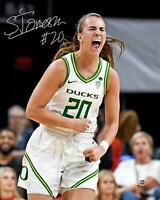 "Sabrina Ionescu Oregon Ducks Autographed 8"" x 10"" Yelling Celebration Photograph"