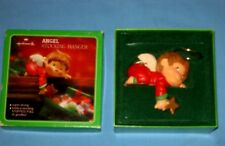 VTG Hallmark Angel Stocking Hanger Hook Christmas Brown Hair Boy W/Box!