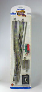 Bachmann HO Scale E-Z Track Section - #6 Turnout, Left Hand