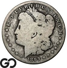 1893-O Morgan Silver Dollar Silver Coin, Better Date New Orleans Issue