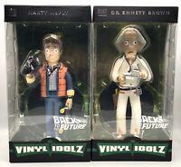 Funko Vinyl Idolz Back to the Future #4 Marty McFly & #5 Dr Emmett Brown Set NIB