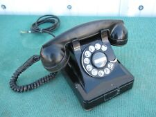Rare Old Antique Telephone Rotary Dial Black Heavy Desk Ringer Phone