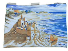Sand Beach Scene Fabric Wall Art Toland Designs NEW