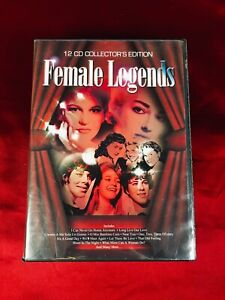 Cd box collection 12 cds female legends VGC