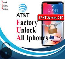 ATT IPHONE 6s Unlock Code Service iPhone 7 8 5S Se 4 X ATT Unlock&Checker CLEAN