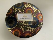 Voluspa CRANE FLOWER  3 Wick Candle in Decorative Tin 12 oz