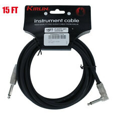 Kirlin 15 FT Cable Right-Angle Electric Patch Cord Guitar +Free Cable Tie NEW