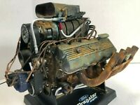 1:6 SCALE FORD BLOWN 427 DRAGSTER MOTOR Custom Barn Find Unrestored Weathered