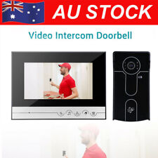 7'' LCD Video Door Bell Phone Doorbell Intercom Camera Security Night Vision AU!