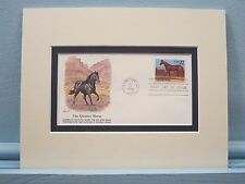 Honoring the Great Horse Breed- The Quarter Horse & First day Cover of its stamp