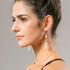 Long Charm Elegant Bohemian Boho Gold Silver Alloy Carved Women Hook Earrings