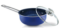 1.7 QT Nonstick Ceramic Coating Saucepan With Lid Stainless Steel Induction Base