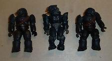 3 Halo Mega Bloks Mini Figures CONVENANT ELITE Inc' COMBAT MINIFIGURES