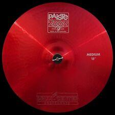 "Paiste 2002 Medium Crash Cymbal 18"" Red Color Sound CUSTOM ORDER"