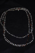 "SILPADA - N1993 - Copper Pearl Brass Strling Silver ""Magnificent Mile"" Necklace"