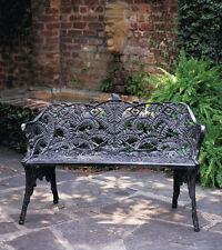 New listing Outdoor PatioFurniture Cast Aluminum Fern Victorian Garden Bench-Antique Repro.