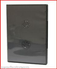 NEW! 2 Pk Premium Black 14mm 6 Discs DVD CD Movie Game Case Box Overlap w Flip
