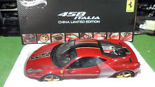 FERRARI 458 ITALIA CHINA EDITION rouge 1/18 ELITE HOT WHEELS MATTEL BCK12 voitur