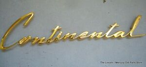 New Repro 1960 60 LINCOLN CONTINENTAL MARK V GOLD FENDER NAMEPLATE C0LB-16098
