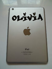 Apple iPad Mini Vinyl Sticker Personalised Whoa Font Name Laptop Tablet