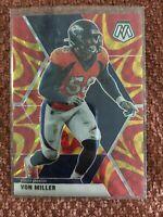 2020 Mosaic Football Von Miller Orange Reactive Parallel Prizm #69 Broncos