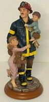 """Vanmark Red Hats of Courage Figurine """"Hero II"""" 1998 Fireman Children Vintage"""