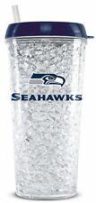Seattle Seahawks Crystal Freezer Tumbler with Straw - 16oz [NEW] NFL Cup Mug