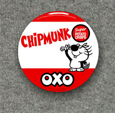 Chipmunk OXO crisps badge - Large Button Badge - 58mm diam