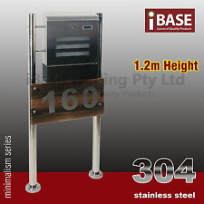 TIMBER HOUSE NUMBER STAINLESS STEEL MAILBOX LETTERBOX LETTER MAIL POST BOX FREE