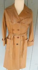 Vintage Women's Belted Trench Coat 24 K Leather by Dan Di Modes Medium