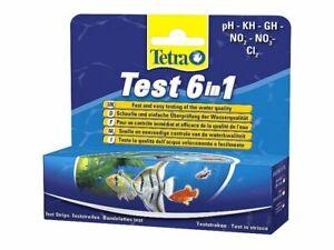 TETRA TEST ACQUARIO 6 IN 1 25 STRISCE PH GH NO3 NO2 KH CL2