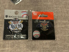 2018 Opening Day New York Yankees Tampa Bay Rays Pin Lot Wincraft