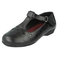Chaussures noires à enfiler pour fille de 2 à 16 ans, pointure 28