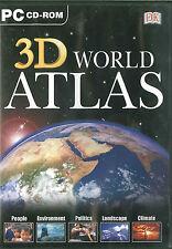 3D Atlas Mondial, Terre, Général, Satellite, Physique et Nuit Modes, Windows
