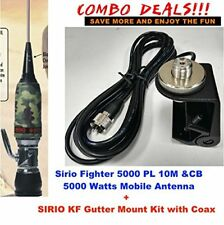 Combo:Sirio Fighter 5000 PL 10M/CB Mobile antenna with Gutter Mount Kit