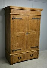 Large Solid Pine Wood Wardrobe Rustic Halo Brand with Drawers Delivery available