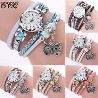 Fashion Women's Casual Retro Owl Watches Leather Band Analog Quartz Wrist Watch