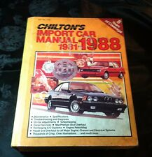 Chilton's Import Car Manual 1981 to 1988 7758 Models imported to U.S. & Canada