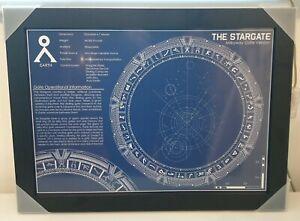 Stargate  schematic blueprint A3 artprint poster in brand new wooden frame