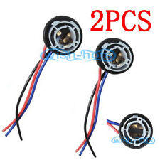 1157 2357 1076 LED Bulbs Signal Lights Socket Harness Plugs Adapter 2 Pieces