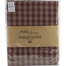 """Sturbridge Wine Red Plaid Tablecloth 54"""" x 54"""" Park Designs Country Primitive"""