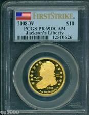 New listing 2008-W $10 Gold Proof Jackson's Liberty First Spouse Pcgs Pf69 Pr69 First Strike