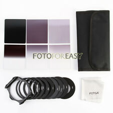 6pcs ND2 ND4 ND8 Gradual ND2 4 8 Filter Kit+9pcs Ring Adapter for Cokin P Series