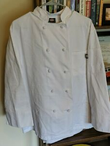 Dickies Hospitality White Knot Button Grand Master Chef Coat Jacket Small