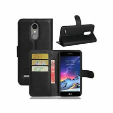 PU Leather Black Book Wallet Flip Stand Case Cover For LG K8 2017 X300 M200N