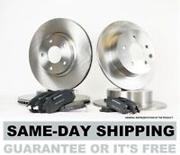 Front & Rear Brake Rotors and Pads fits 1999 2000 2001 2002 LINCOLN CONTINENTAL