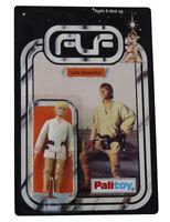 Vintage 1977 Star Wars Luke Skywalker Figure On Custom Made Card Back