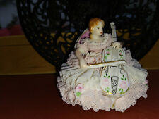 "MZ Irish Dresden Porzellanfigur CELTIC MELODIE ""STEPHANIE"" Top Zustand"
