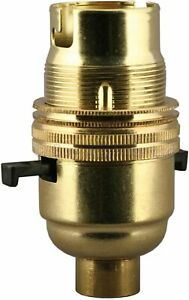 Brass Lampholder Lamp Holder Switched Bayonet BC B22 Bayonet Cap