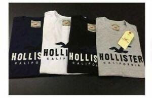 Hollister -ORGINAL-CREW-NECK-SHORT-SLEEVE-t-shirt-S-XXL